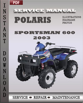 Polaris Sportsman 600 2003 manual