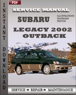 Subaru Legacy Outback 2002 manual