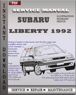 Subaru Liberty 1992 manual