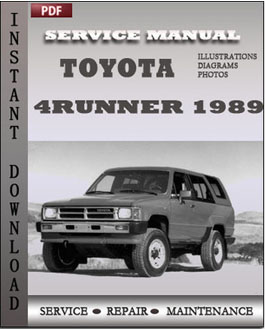 Toyota 4Runner 1989 manual