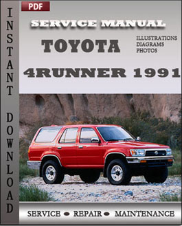 Toyota 4Runner 1991 manual