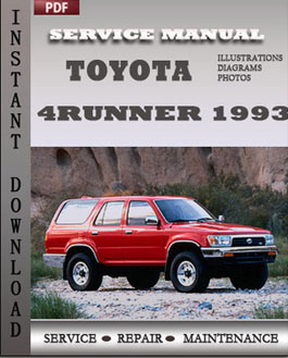 Toyota 4Runner 1993 manual