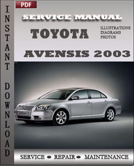 Toyota Avensis 2003 manual