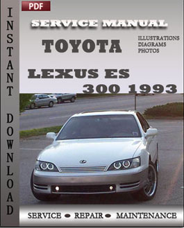 Toyota Lexus ES 300 1993 manual