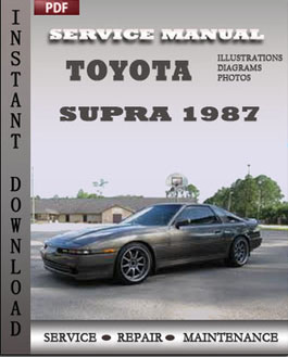 Toyota Supra 1987 manual