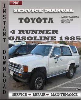 Toyota Truck 4 Runner Gasoline 1985 manual