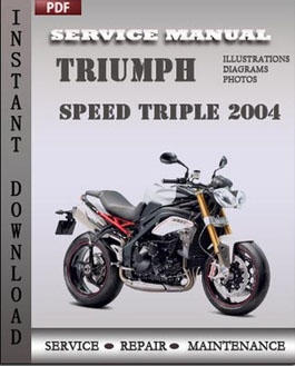 Triumph Speed Triple 2004 manual