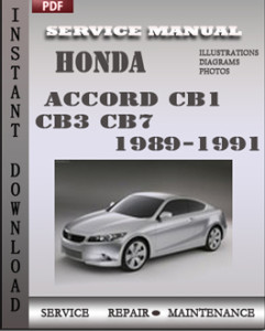 Honda Accord CB1 CB3 CB7 1989-1991 global