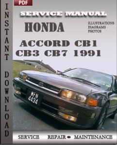 Honda Accord CB1 CB3 CB7 1991 global