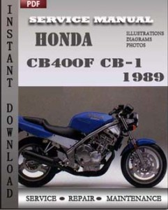 Honda CB400F CB-1 1989 global