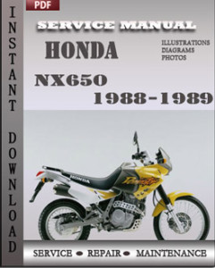 Honda NX650 1988-1989 global