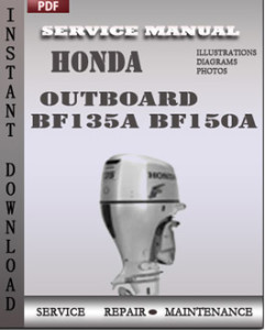 Honda Outboard BF135A BF150A global