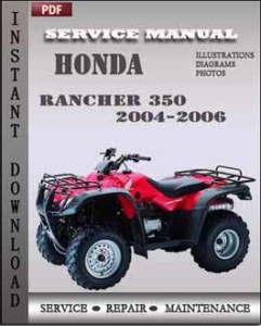 Honda Rancher 350 2004-2006 global