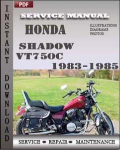 Honda Shadow VT750C 1983-1985 global