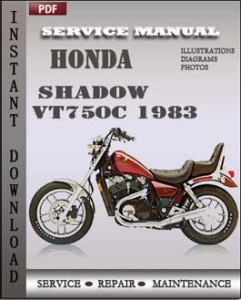 Honda Shadow VT750C 1983 global