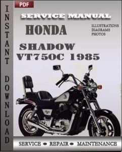 Honda Shadow VT750C 1985 global