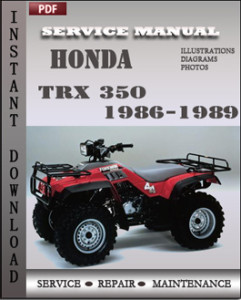 Honda TRX 350 1986-1989 global