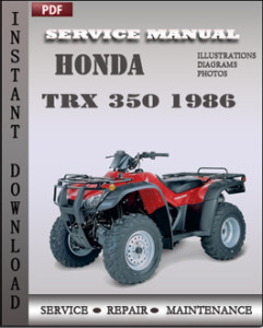 Honda TRX 350 1986 global