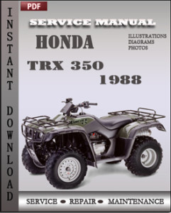 Honda TRX 350 1988 global