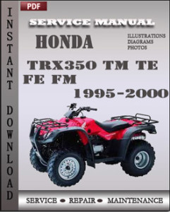 Honda TRX350 TM TE FE FM 1995-2000 global