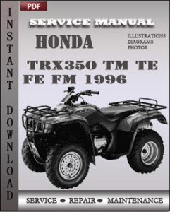 Honda TRX350 TM TE FE FM 1996 global