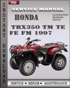 Honda TRX350 TM TE FE FM 1997 global