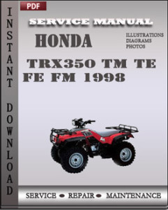 Honda TRX350 TM TE FE FM 1998 global