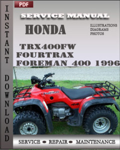 Honda TRX400FW Fourtrax Foreman 400 1996 global