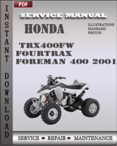 Honda TRX400FW Fourtrax Foreman 400 2001 global