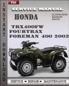 Honda TRX400FW Fourtrax Foreman 400 2002 global
