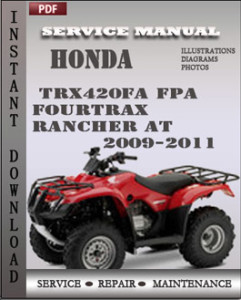 Honda TRX420FA FPA Fourtrax Rancher AT 2009-2011 global