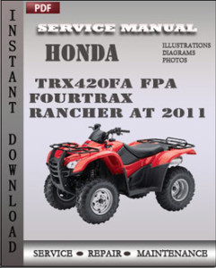 Honda TRX420FA FPA Fourtrax Rancher AT 2011 global
