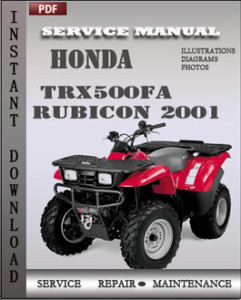 Honda TRX500FA Rubicon 2001 global