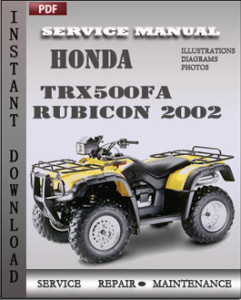 Honda TRX500FA Rubicon 2002 global