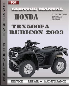 Honda TRX500FA Rubicon 2003 global