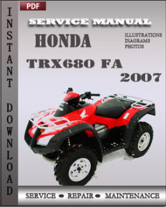 Honda TRX680 FA 2007 global