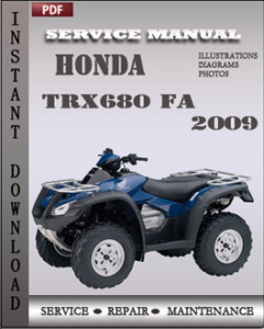 Honda TRX680 FA 2009 global