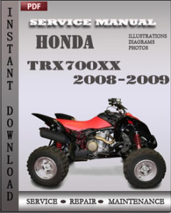 Honda TRX700xx 2008-2009 global