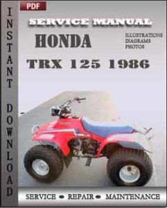 Honda Trx 125 1986 global