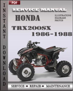 Honda Trx200sx 1986-1988 global