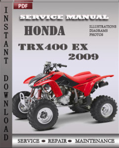 Honda Trx400 EX 2009 global