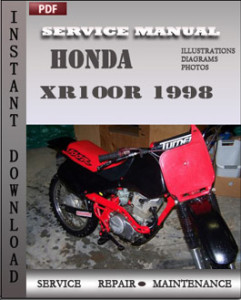 Honda XR100R 1998 global