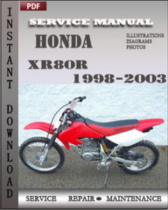 Honda XR80R 1998-2003 global