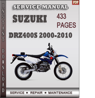 Suzuki DRZ400S 2000-2010 service manual