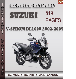 Suzuki V-Strom DL1000 2002-2009 service manual